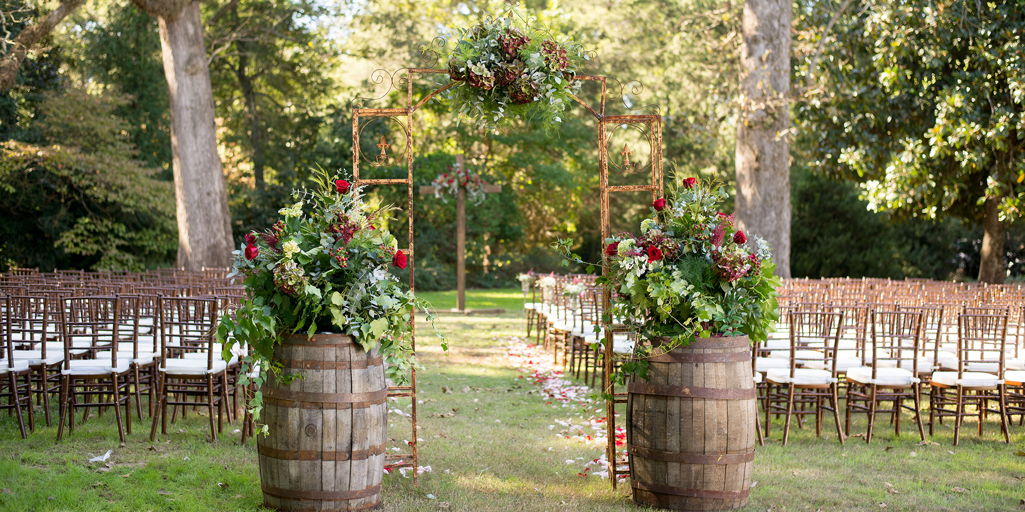 FRUITWOOD CHIAVARI CHAIR RENTAL by Oconee Events Weddings in Athens