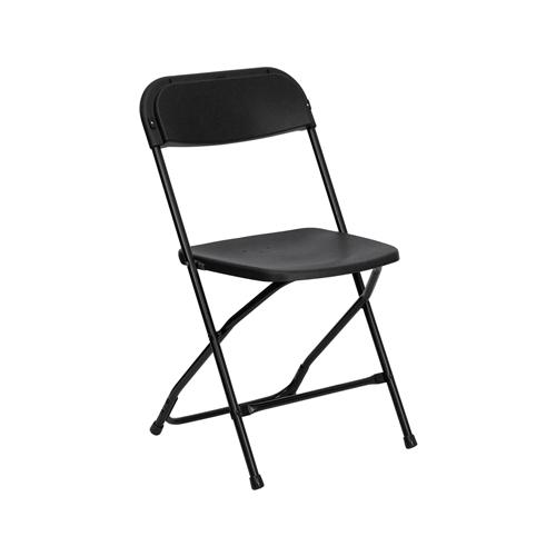 Black Plastic Folding Chair