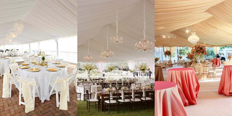 Frame Tent Rental with Tent Liner