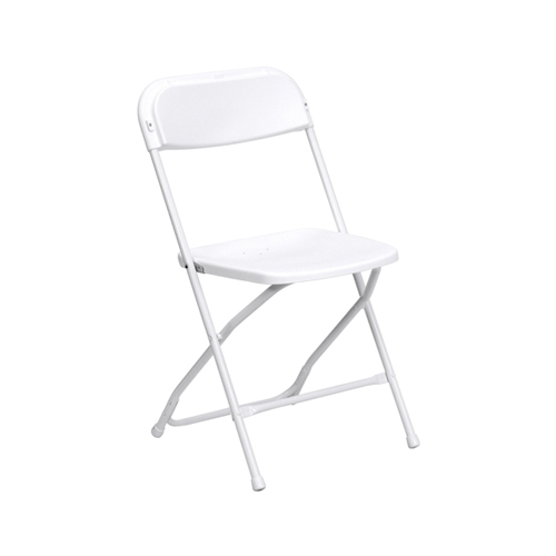 White Plastic Folding Chair Oconee Event Rentals