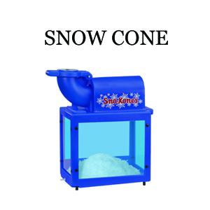 snow cone machine rental prices