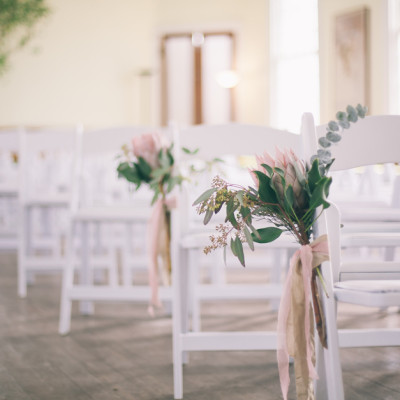 White wedding chair rental in Athens and Lake Oconee, GA.