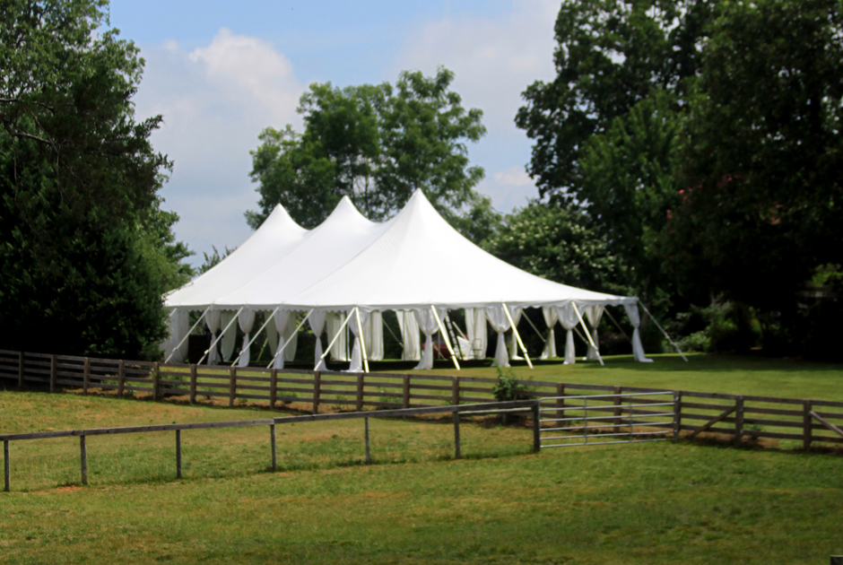LARGE HIGH PEAK POLE TENT RENTAL by Oconee Events  Athens, GA