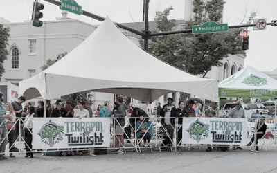 terrapin beer company tent at the twilight criterium bike races