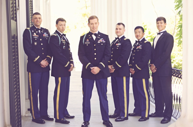 Traditional Military Wedding - Groomsmen - Taylor Grady House Athens GA