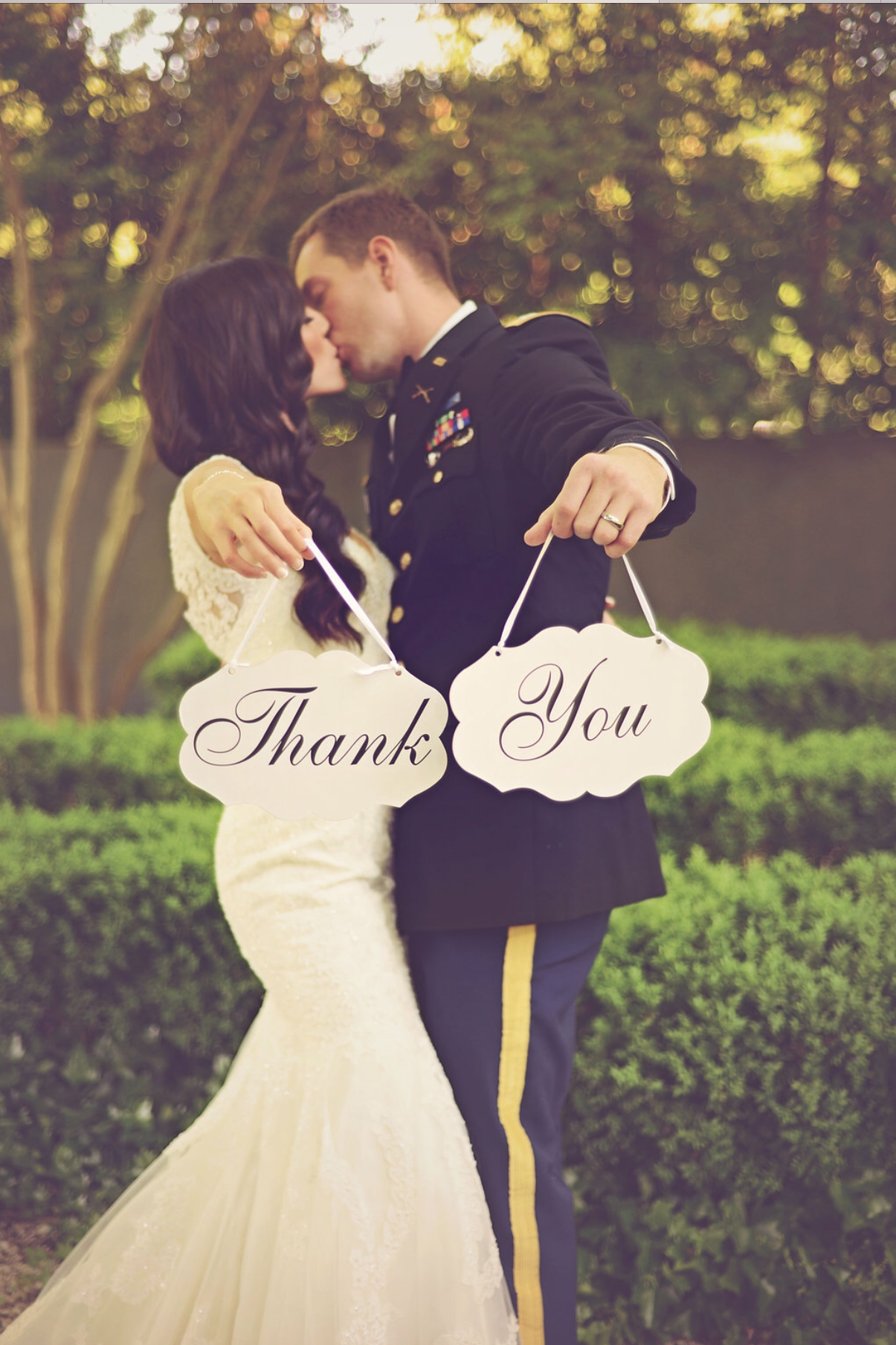 Wedding Thank You Card Photo Ideas - Military Ceremony Atlanta GA