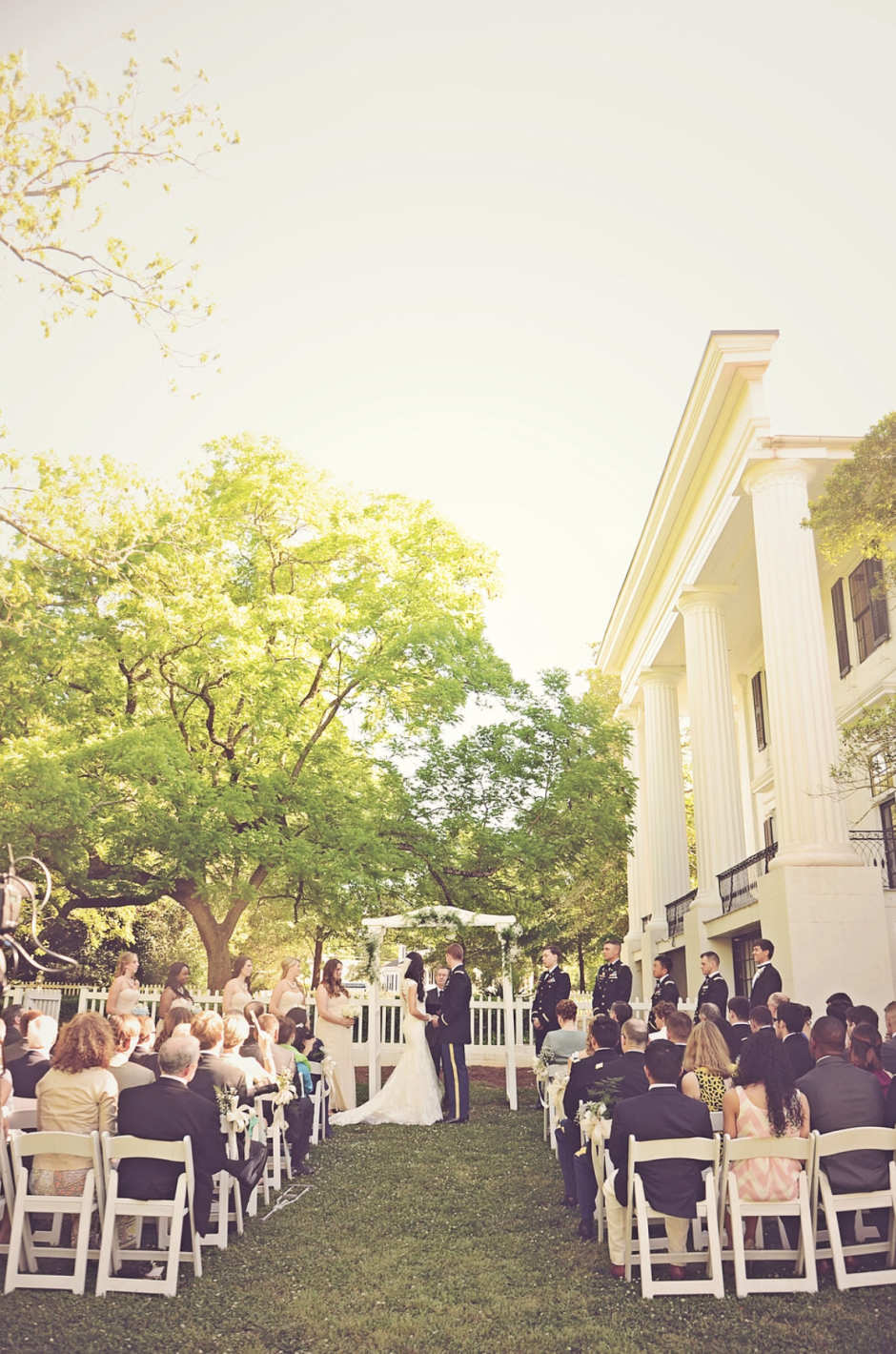 Antebellum Mansion Wedding Ceremony Georgia - Chair Rental Atlanta - Taylor Grady House