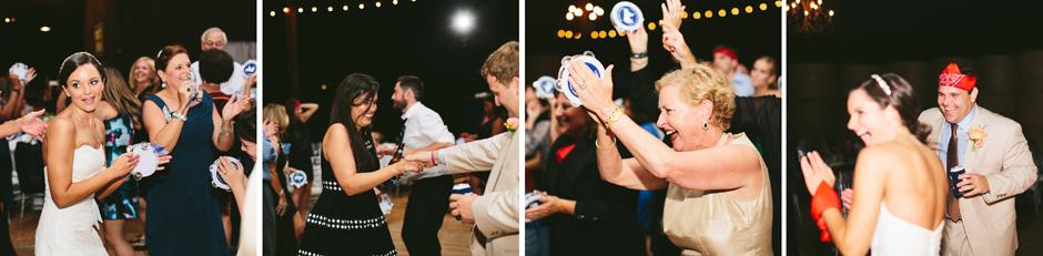 Guests having fun and dancing at wedding in Hartwell, GA