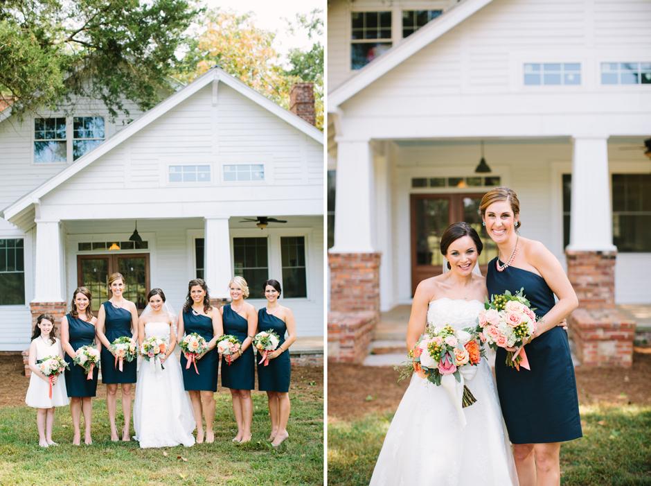 Navy blue bridesmaids dress ideas