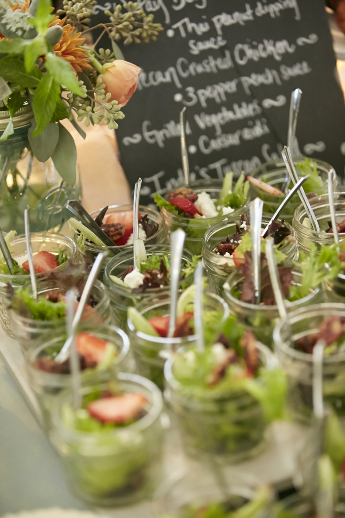 Oconee Events - Hallie Janes Catering - Salads in Mason Jars