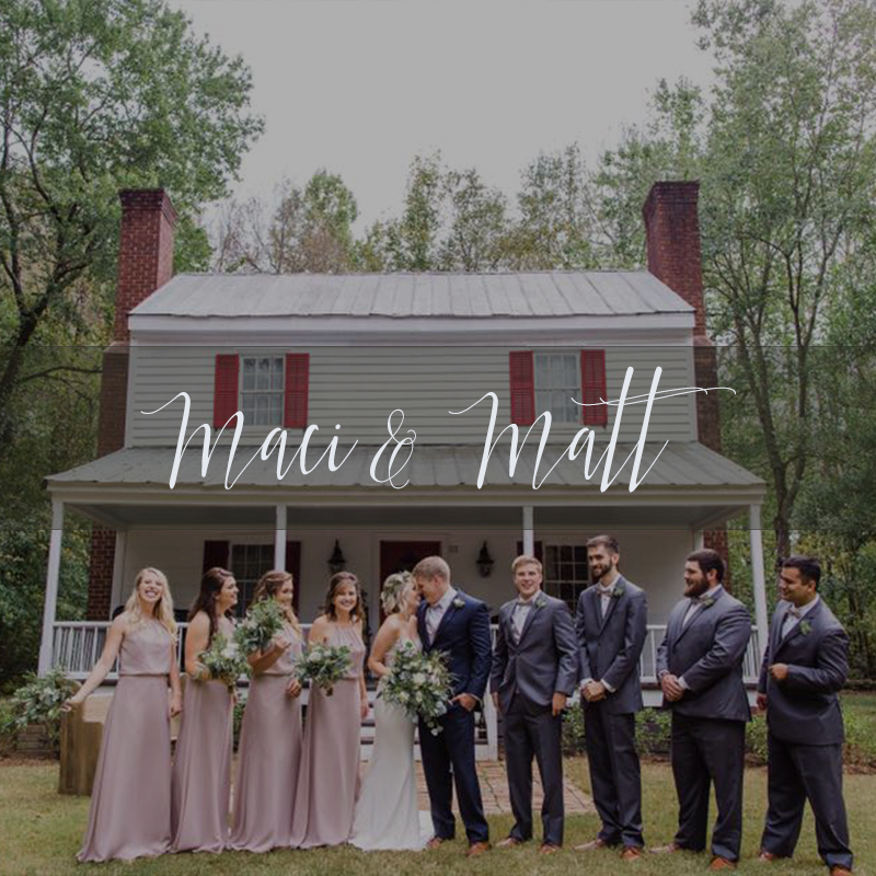 Maci and Matt Cottages on Mergendollar Wedding