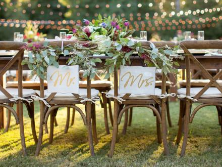Farm tables for head table