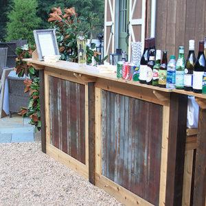 Oconee Events | Rustic Tin Portable Bar Rental in Athens, GA