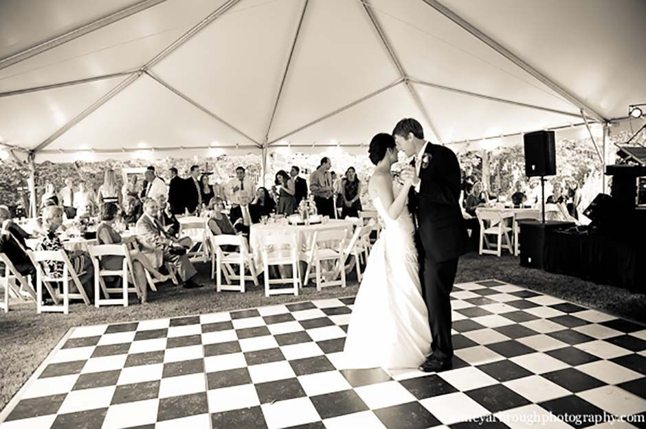 Oconee Events Checked Dancefloor Rentals-- Wedding Athens, GA
