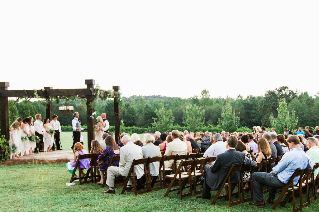 Oconee Events Dark Folding Chair Rentals-- Wedding Athens, GA