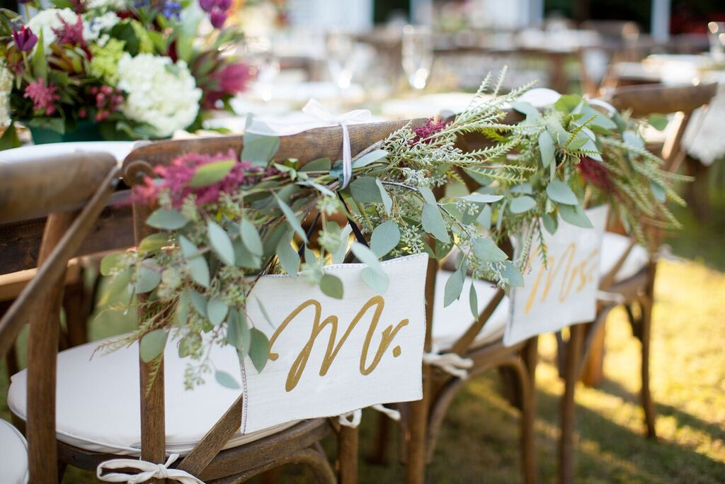 Oconee Events Crossback chairs--Events:Weddings Athens, GA