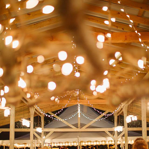 Oconee Events - Custom Wedding Reception Lighting in Greensboro, GA - Cafe String Light Rental Athens