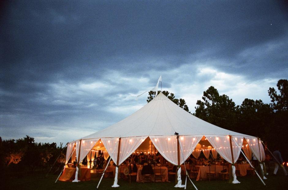Oconee Events | Sailcloth Wedding Tent Rental in Georgia