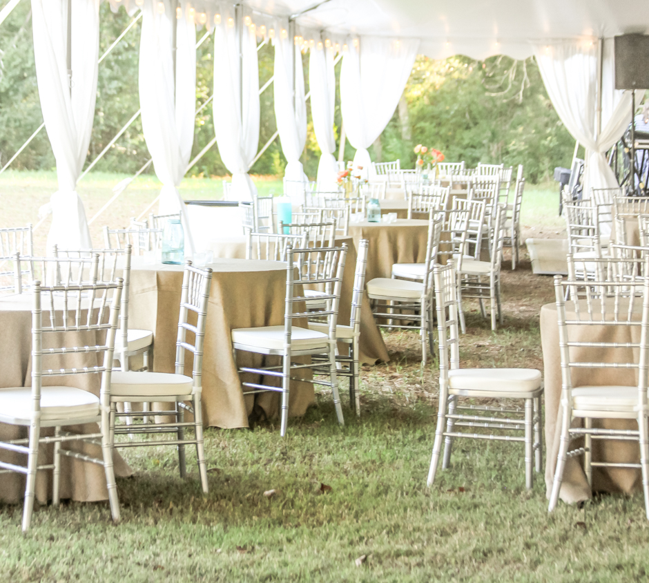 Wonderful Oconee Events Silver Chiavari Chair Rentals