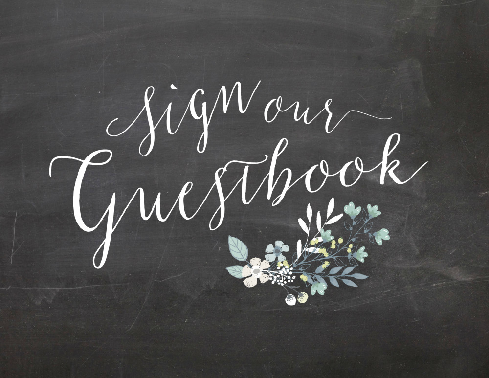 sign our guestbook chalkboard wedding sign printable oconee events