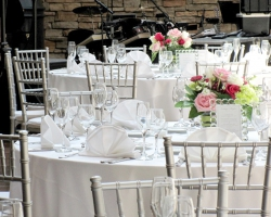 Oconee Events | Silver Chiavari Chair Rental in Atlanta, Athens, Lake Oconee | Georgia Wedding Chair Rentals