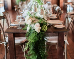 Oconee Events Farm table-- Wedding in Athens, GA