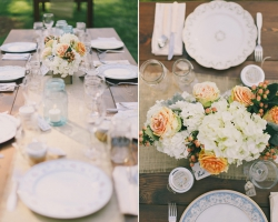 Oconee Events - Farm Tables and Crossback Chair Wedding near University of Georgia in Athens