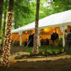 Wedding Tent with String Lights
