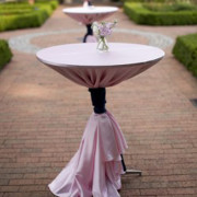 Cocktail Tables with Pink Linen