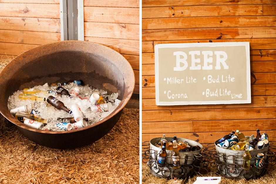 Oconee Events - Rustic Bar Setup at The Farm at High Shoals