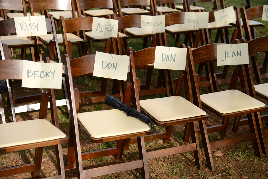 Dark Wooden Folding Chairs For Rent