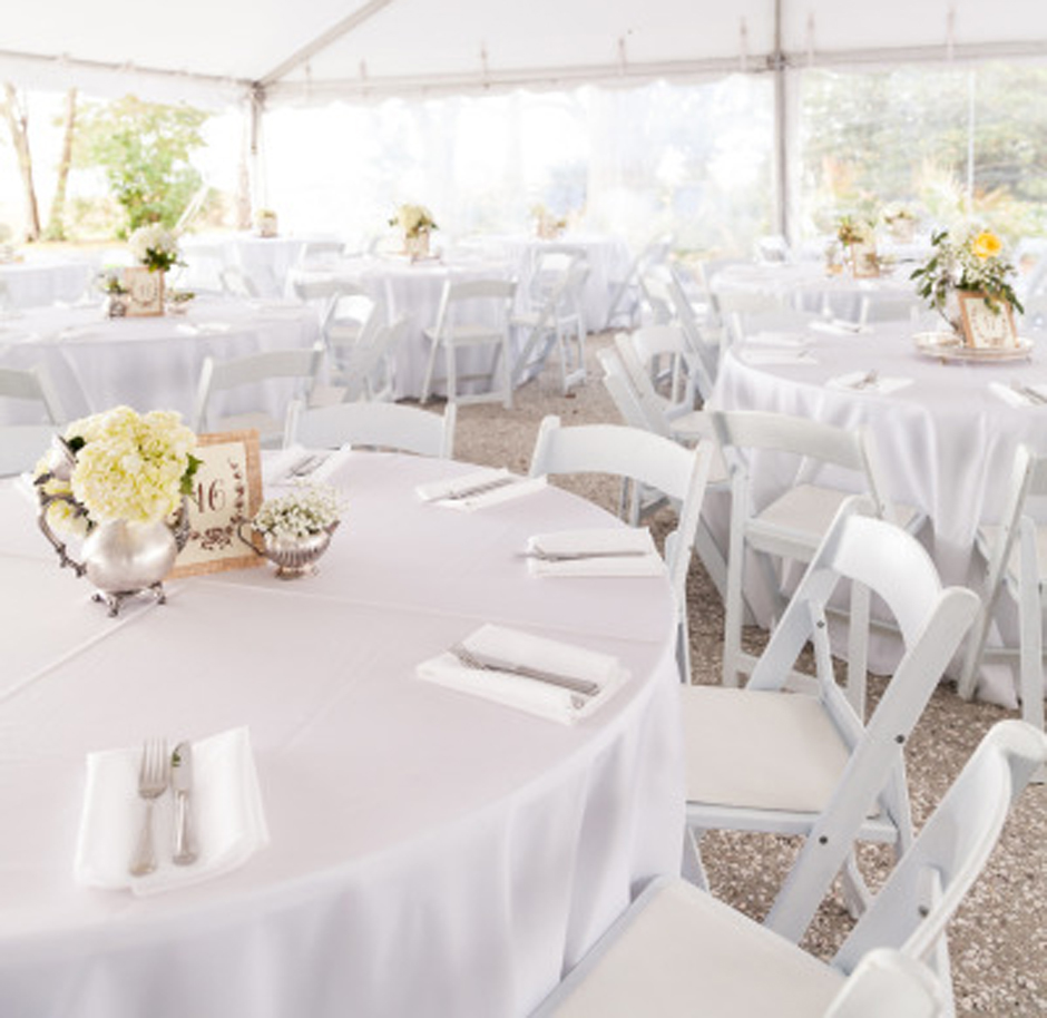 Oconee Events - Wedding Chair Rental in Athens, Atlanta, Greensboro, Gainesville, Madison - White Folding Chairs