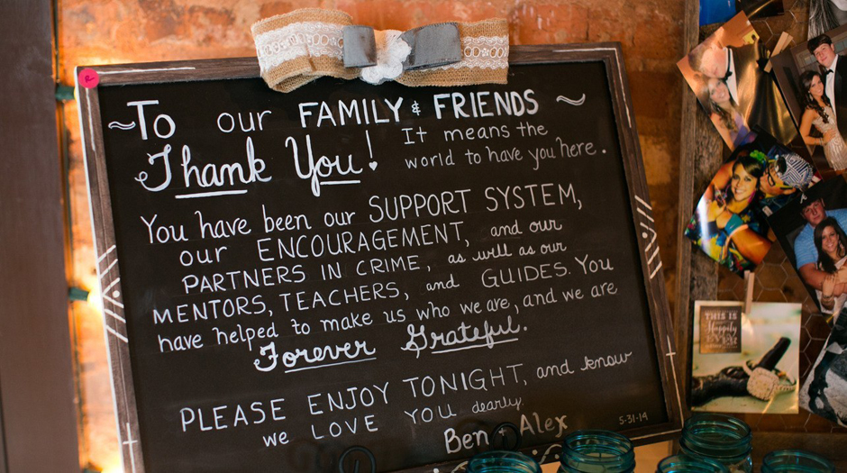 Chalkboard Wedding Sign Ideas - Athens GA Event Rental and Coordinating