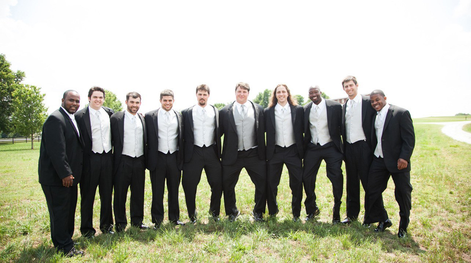 Former UGA football players meet for teammate, Ben Jones, to be married in Athens GA - Large Tent rentals