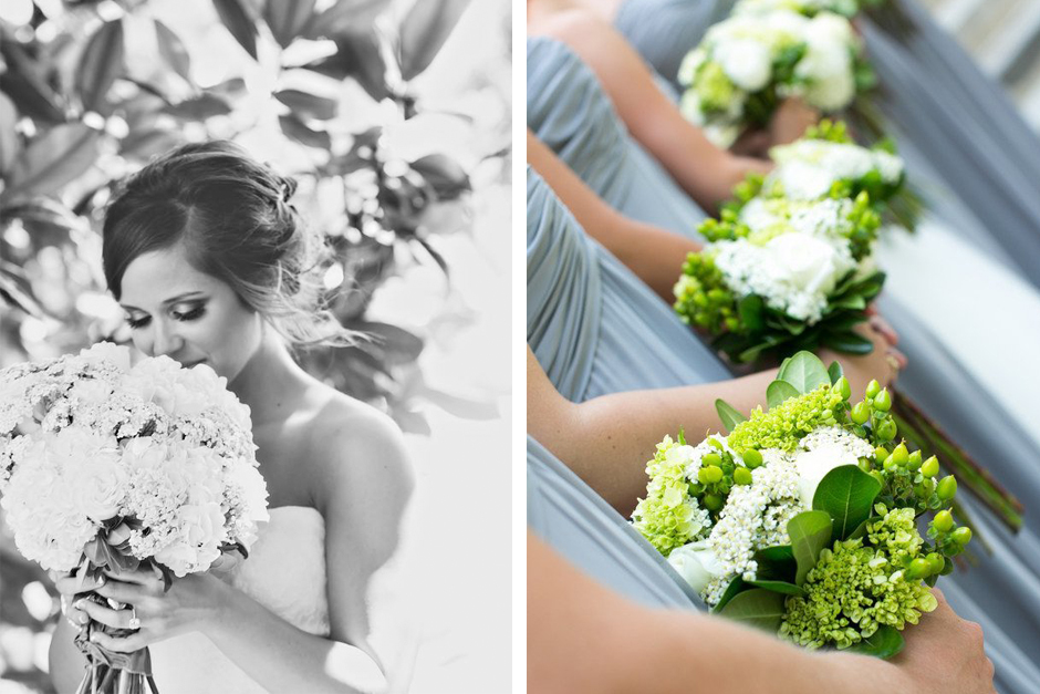 Gray and green wedding color palette -- Oconee Event Rentals