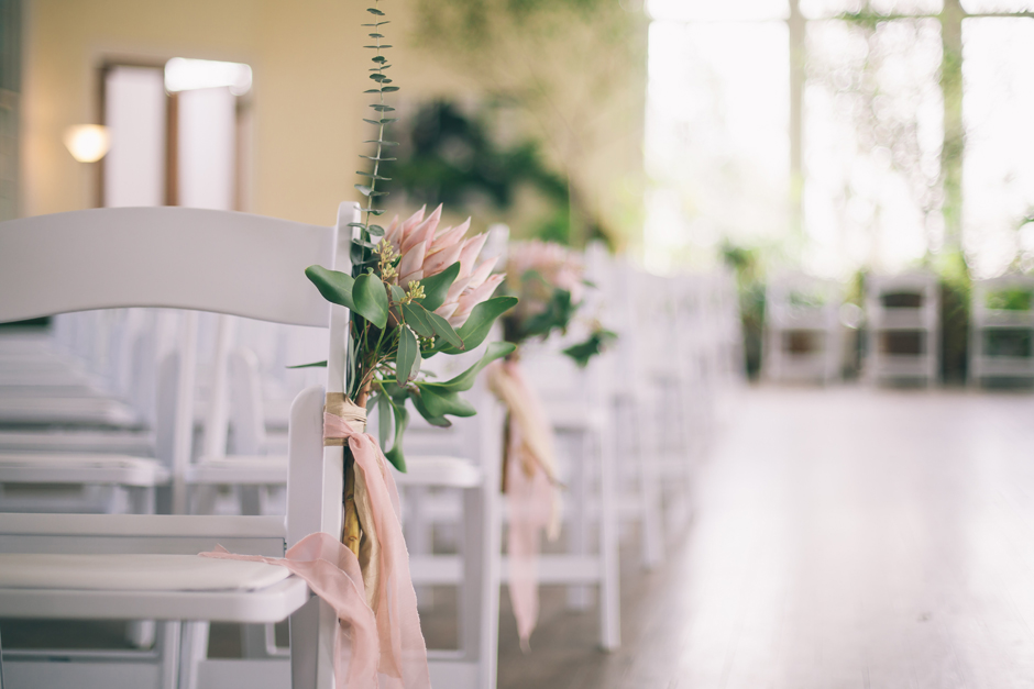 White Folding Ceremony Chair Rental Athens GA