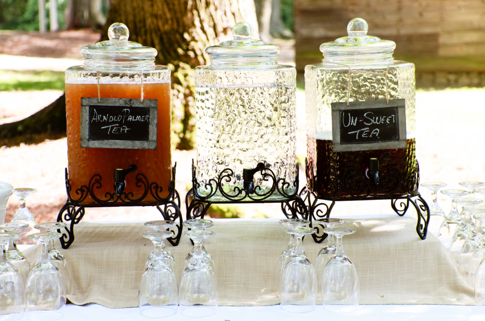 Arnold Palmer Cocktail - Southern Weddings - Oconee Events - Sweet Tea Station - Food Table Ideas
