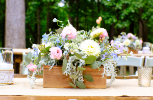 Farm Table Rental Athens GA - Reception Centerpieces Ideas Dahlia and Garden Roses