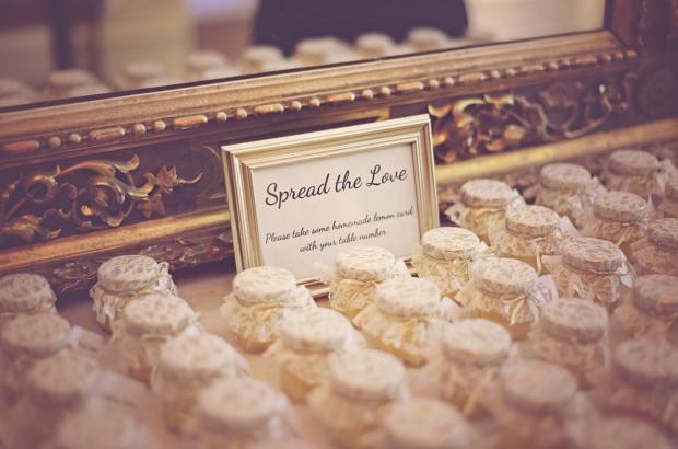Unique Wedding Favors - Jars of Lemon Curd