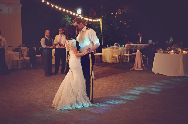 Cafe String Light Rental Athens Georgia - Military Wedding - Romantic Last Dance Photos