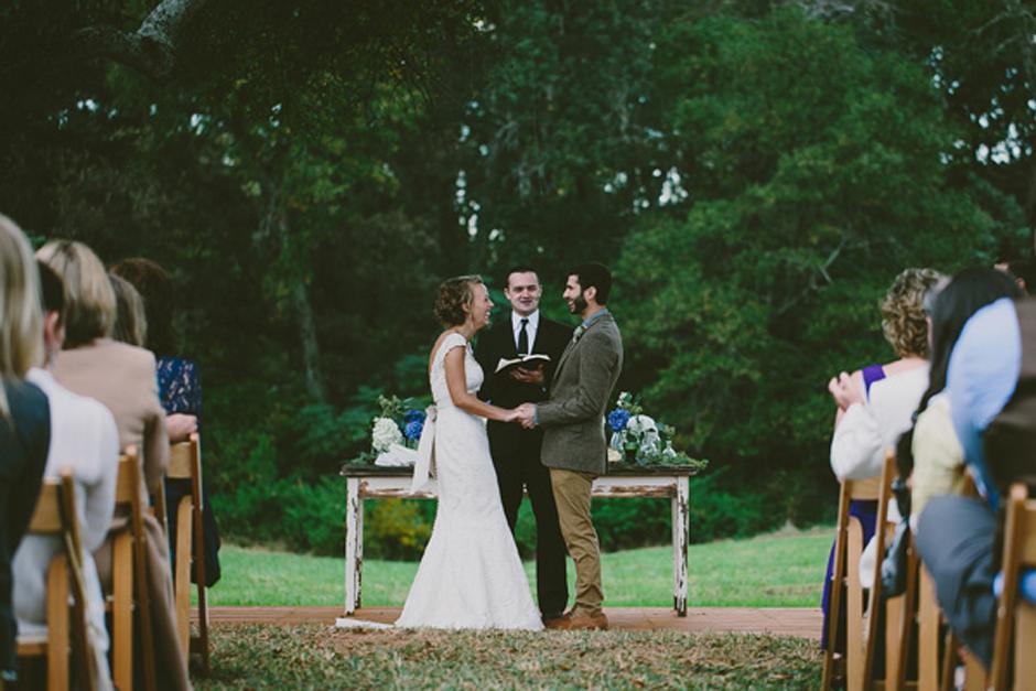 Rustic Farm Wedding Ceremony - Chair Rental Atlanta Georgia