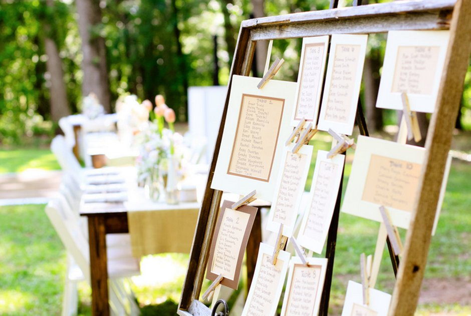 Rustic Reception Seating Chart - Outdoor Wedding - Historic Southern Farmhouse