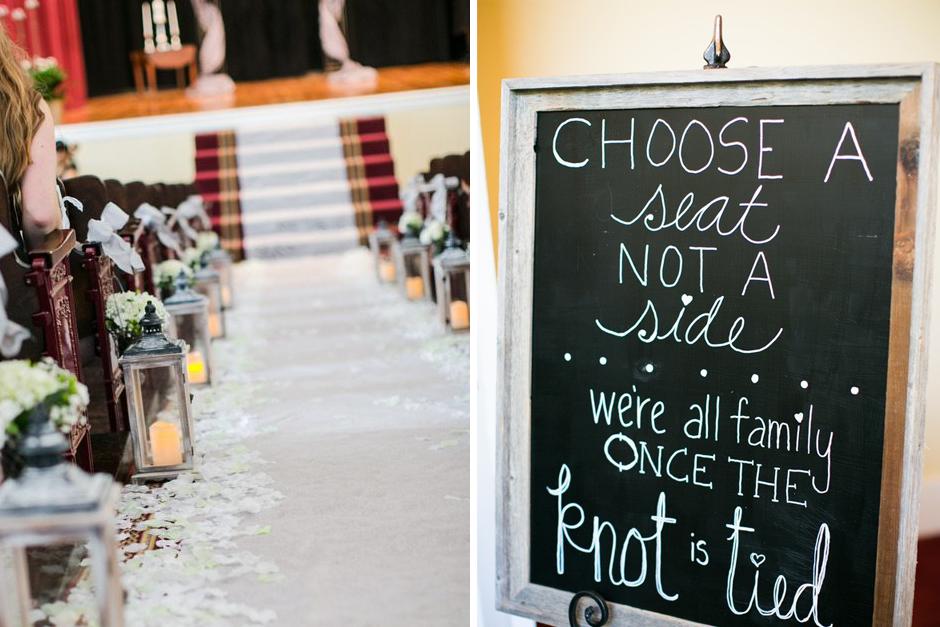 UGA Chapel Wedding - Athens GA - Table and chair rentals