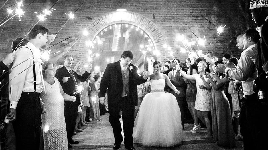UGA Football Player Wedding - Athens GA - Ben Jones - Sparkler Exit
