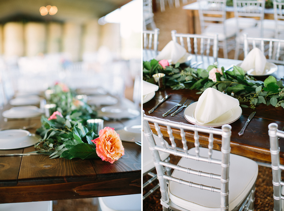 family-style seating at wedding reception