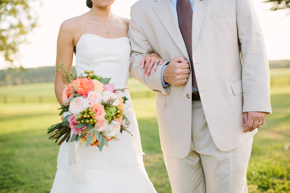 Pink, peach, ivory and green bridal bouquet ideas