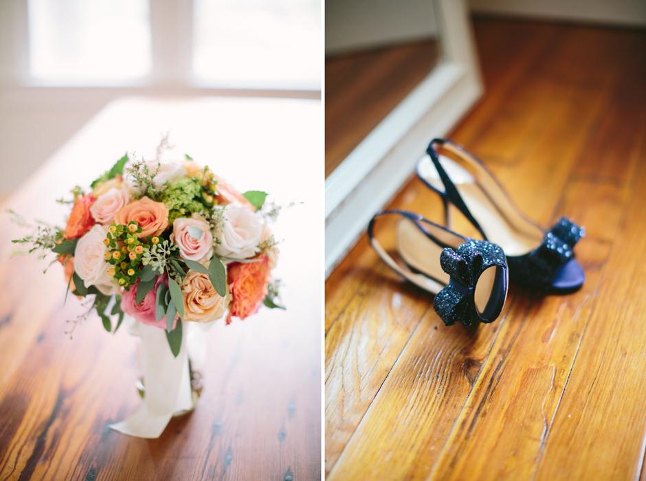 Navy blue bridal shoes