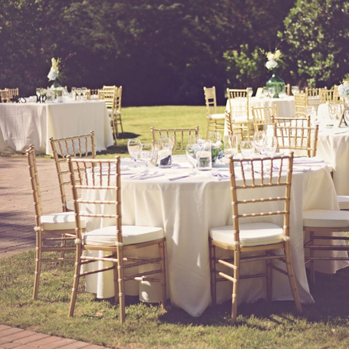 Taylor Grady House Wedding Reception | Gold Chiavari Chairs