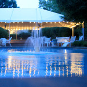 Frame Tent with Cafe String Lights
