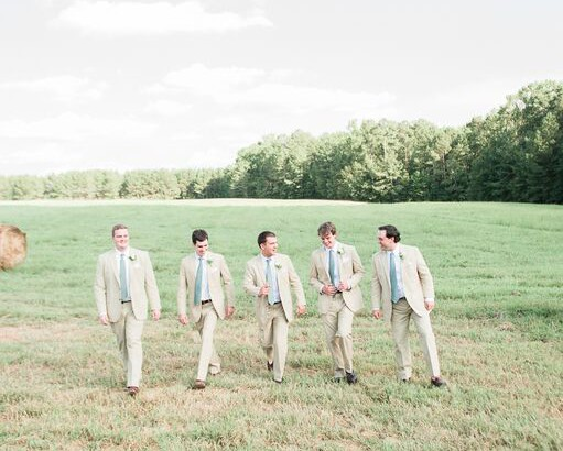Groomsmen Barn Wedding